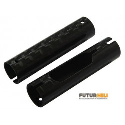 Tube carbone (x2) chassis glimpse-135RQX option Rakonheli