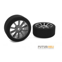 Roues mousse 1/10 eme 26mm 40 Shore Team Corally