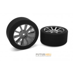 Roues mousse 1/10 eme 30mm 35 Shore Team Corally