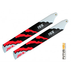 Pales 155mm Zeal Energy (neon orange) blade 180cfx-130 Stretched