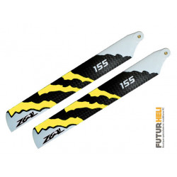 Pales 155mm Zeal Energy jaune blade 180cfx-130 Stretched