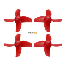 Helices 4 pales 40mm rouge axe 1mm (2cw+2ccw) Rakonheli