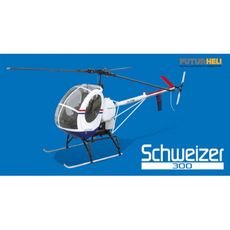 Kit Schweizer 300 tripale +conversion electrique Hirobo