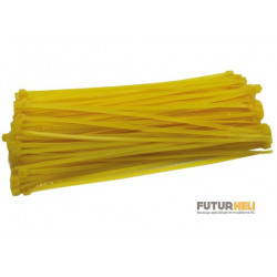 Colliers nylon jaune 3x150mm 20 pièces Robbe