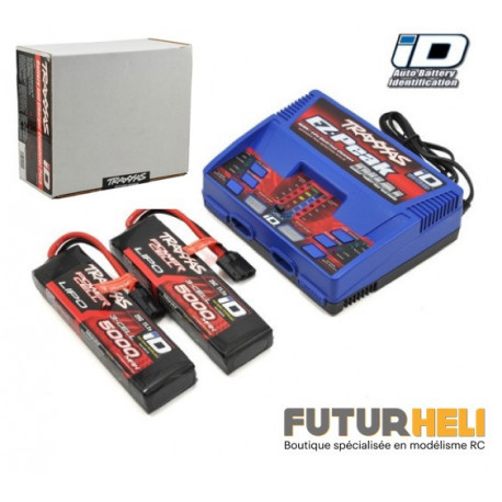 Traxxas PAck 2xlipo 3S 5000 mAh + chargeur 2972G