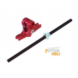 "Option Blade Nano Alu -hub rouge + axe principal carbone option ""Lynx Heli """