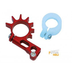 "Option support moteur anticouple Alu rouge +protection Nano cpx "" Lynx heli """