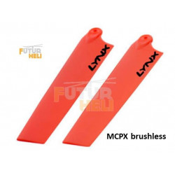 Pales Orange  115 mm pour blade mcpx Brushless lynx Heli