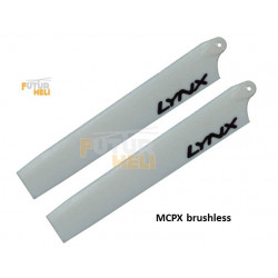 Pales Blanche 115 mm pour blade mcpx Brushless lynx Heli